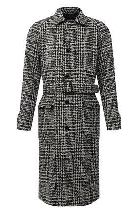 Мужской шерстяное пальто DOLCE & GABBANA черно-белого цвета, арт. G020XT/FQMIF   Фото 1