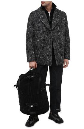 Мужской текстильный рюкзак DOLCE & GABBANA черного цвета, арт. BM1904/AW911 | Фото 2