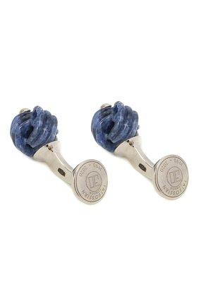 Мужские серебряные запонки TATEOSSIAN синего цвета, арт. CF0323 | Фото 2