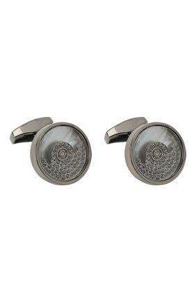 Мужские запонки с бриллиантами TATEOSSIAN темно-серого цвета, арт. CL9261/M | Фото 1