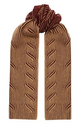 Мужской кашемировый шарф LORO PIANA бордового цвета, арт. FAL4452 | Фото 1