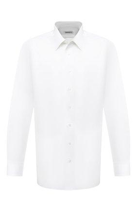 Мужская хлопковая сорочка ZILLI белого цвета, арт. MFU-10715-0299/0009/45-49 | Фото 1 (Материал внешний: Хлопок; Рукава: Длинные; Длина (для топов): Стандартные; Случай: Формальный; Стили: Классический; Рубашки М: Regular Fit; Big sizes: Big Sizes; Воротник: Кент)