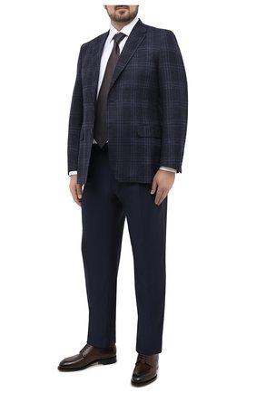 Мужская хлопковая сорочка ZILLI белого цвета, арт. MFU-10715-0299/0009/45-49 | Фото 2 (Материал внешний: Хлопок; Рукава: Длинные; Длина (для топов): Стандартные; Случай: Формальный; Стили: Классический; Рубашки М: Regular Fit; Big sizes: Big Sizes; Воротник: Кент)