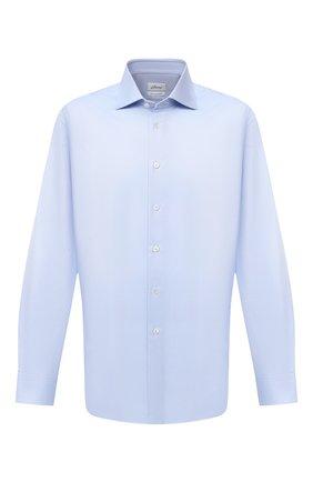 Мужская хлопковая сорочка BRIONI голубого цвета, арт. RCL400/PZ062 | Фото 1