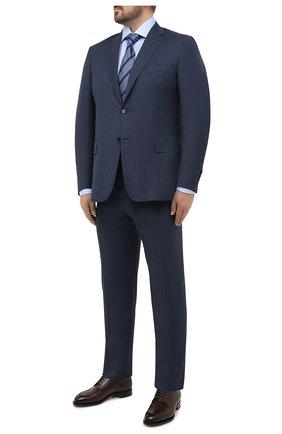 Мужская хлопковая сорочка BRIONI голубого цвета, арт. RCL400/PZ062 | Фото 2