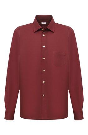 Мужская хлопковая рубашка KITON бордового цвета, арт. UMCNERH0740904/45-50   Фото 1
