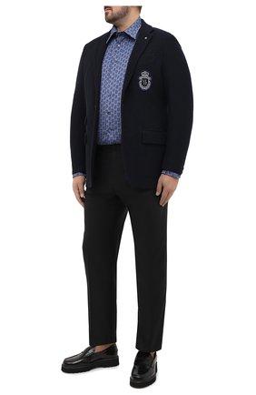 Мужской шерстяные брюки BRIONI черного цвета, арт. RPL23X/PZA0P/M0ENA | Фото 2