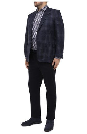 Мужская хлопковая рубашка ETON синего цвета, арт. 1000 01807   Фото 2