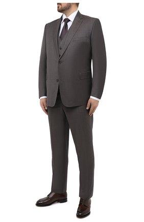 Мужской шерстяной костюм-тройка EDUARD DRESSLER серого цвета, арт. N283/10008 | Фото 1