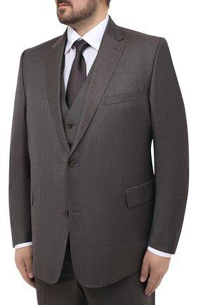Мужской шерстяной костюм-тройка EDUARD DRESSLER серого цвета, арт. N283/10008 | Фото 2