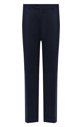 Мужской шерстяные брюки BRIONI синего цвета, арт. RPL20R/07AB4/M0ENA | Фото 1