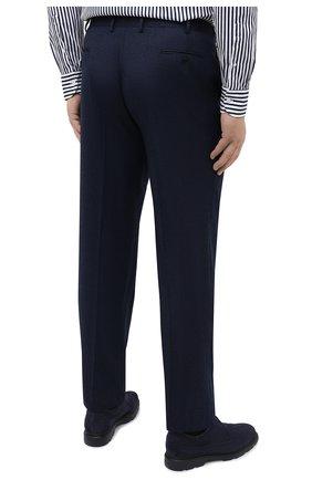 Мужские шерстяные брюки BRIONI синего цвета, арт. RPL20R/07AB4/M0ENA | Фото 4 (Big sizes: Big Sizes; Материал внешний: Шерсть; Длина (брюки, джинсы): Стандартные; Стили: Классический; Случай: Формальный; Материал подклада: Купро)