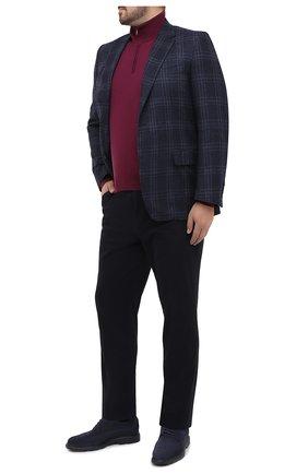 Мужской шерстяной джемпер LUCIANO BARBERA фиолетового цвета, арт. 109258/53169/58-62 | Фото 2