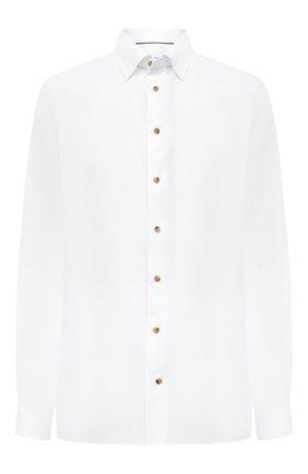 Мужская хлопковая сорочка ETON белого цвета, арт. 1000 01747 | Фото 1 (Материал внешний: Хлопок; Рукава: Длинные; Случай: Формальный; Стили: Классический; Рубашки М: Regular Fit; Big sizes: Big Sizes; Воротник: Кент)