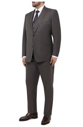 Мужская хлопковая сорочка ETON белого цвета, арт. 1000 01747 | Фото 2 (Материал внешний: Хлопок; Рукава: Длинные; Случай: Формальный; Стили: Классический; Рубашки М: Regular Fit; Big sizes: Big Sizes; Воротник: Кент)