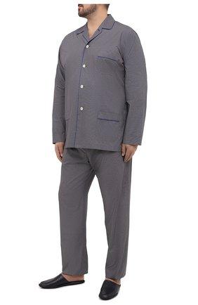 Мужская хлопковая пижама ROBERTO RICETTI темно-синего цвета, арт. PIGIAMA VENEZIA LUNG0/LX2512/60-64 | Фото 1