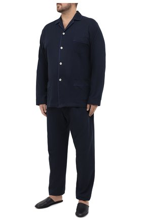 Мужская хлопковая пижама ROBERTO RICETTI темно-синего цвета, арт. PIGIAMA VENEZIA LUNG0/LX2504/60-64 | Фото 1