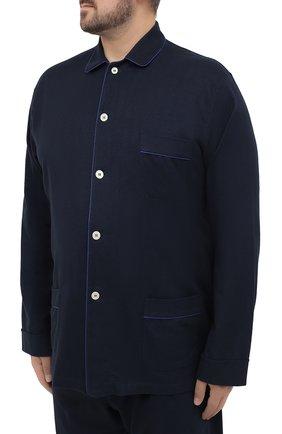 Мужская хлопковая пижама ROBERTO RICETTI темно-синего цвета, арт. PIGIAMA VENEZIA LUNG0/LX2504/60-64 | Фото 2