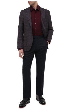 Мужская хлопковая рубашка ZILLI красного цвета, арт. MFU-64034-0001/0011   Фото 2 (Длина (для топов): Стандартные; Материал внешний: Хлопок; Рукава: Длинные; Мужское Кросс-КТ: Рубашка-одежда; Случай: Повседневный; Принт: Однотонные; Рубашки М: Regular Fit; Стили: Классический; Манжеты: На пуговицах; Воротник: Кент)