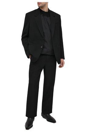 Мужские кожаные казаки BOTTEGA VENETA черного цвета, арт. 639683/V00M0 | Фото 2