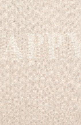 Детское кашемировое платье OSCAR ET VALENTINE бежевого цвета, арт. ROB01HAPPYM | Фото 3 (Материал внешний: Шерсть; Рукава: Длинные; Случай: Повседневный)