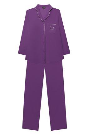 Детская хлопковая пижама NATAYAKIM фиолетового цвета, арт. NY-025BWK | Фото 1