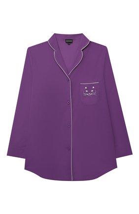 Детская хлопковая пижама NATAYAKIM фиолетового цвета, арт. NY-025BWK | Фото 2
