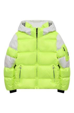 Детская пуховая куртка BOGNER KIDS салатового цвета, арт. 35604614 | Фото 1