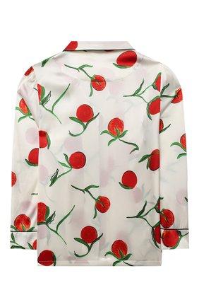 Детская шелковая пижама LITTLE YOLKE белого цвета, арт. SS21-12S-0P-PER/5-12Y | Фото 3