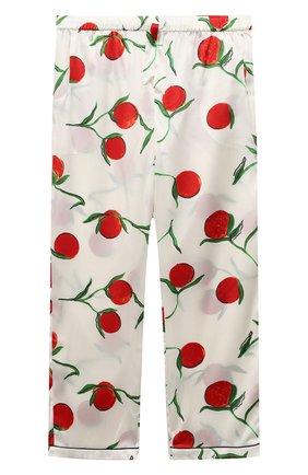 Детская шелковая пижама LITTLE YOLKE белого цвета, арт. SS21-12S-0P-PER/5-12Y | Фото 4
