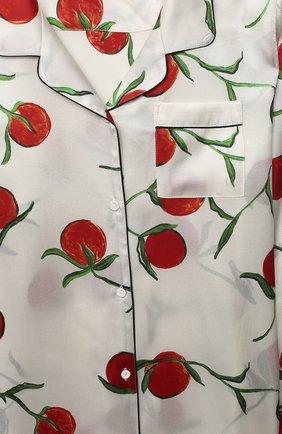 Детская шелковая пижама LITTLE YOLKE белого цвета, арт. SS21-12S-0P-PER/5-12Y | Фото 6