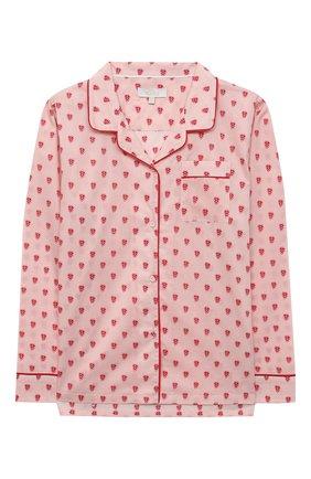 Детская хлопковая пижама LITTLE YOLKE розового цвета, арт. SS21-12C-QH-GF/9-12Y | Фото 2
