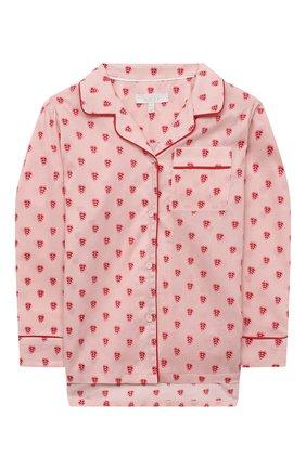 Детская хлопковая пижама LITTLE YOLKE розового цвета, арт. SS21-12C-QH-GF/1-8Y | Фото 2