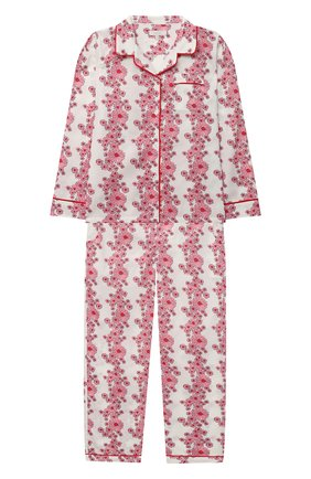 Детская хлопковая пижама LITTLE YOLKE розового цвета, арт. SS21-12C-BL-LY/9-12Y | Фото 1