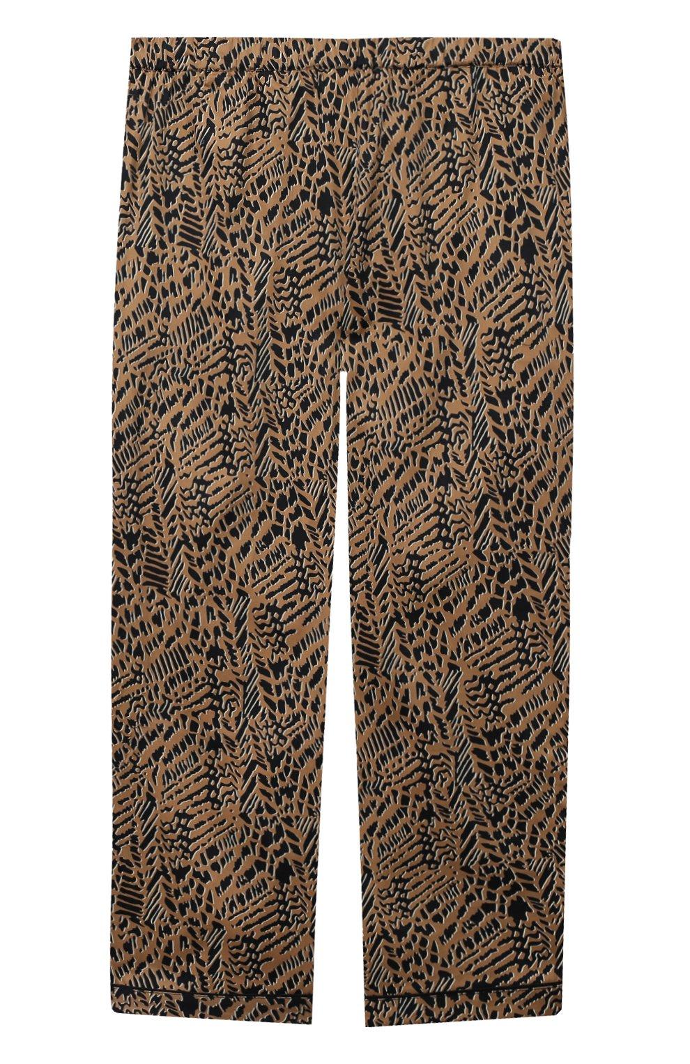 Детская хлопковая пижама LITTLE YOLKE леопардового цвета, арт. SS21-12C-AN-DI/9-12Y | Фото 5