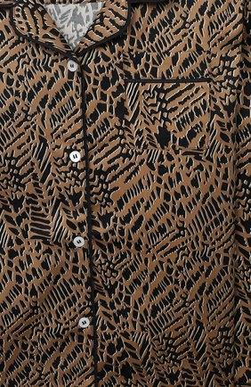 Детская хлопковая пижама LITTLE YOLKE леопардового цвета, арт. SS21-12C-AN-DI/9-12Y | Фото 6