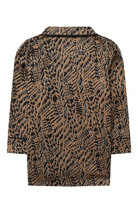 Детская хлопковая пижама LITTLE YOLKE леопардового цвета, арт. SS21-12C-AN-DI/1-8Y | Фото 3