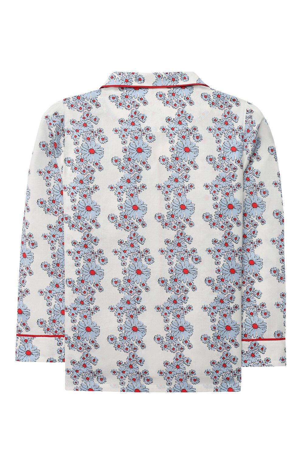 Детская хлопковая пижама LITTLE YOLKE голубого цвета, арт. SS21-12C-BL-CP/9-12Y   Фото 3