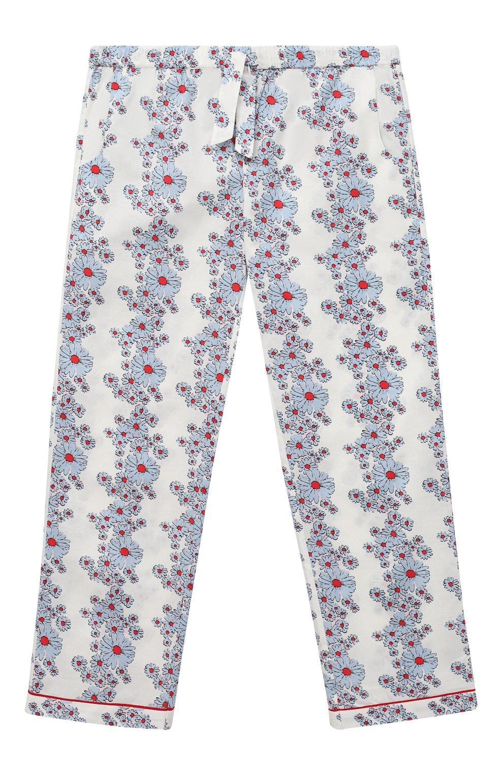 Детская хлопковая пижама LITTLE YOLKE голубого цвета, арт. SS21-12C-BL-CP/9-12Y   Фото 4