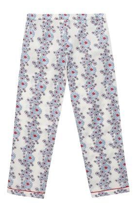 Детская хлопковая пижама LITTLE YOLKE голубого цвета, арт. SS21-12C-BL-CP/9-12Y   Фото 5