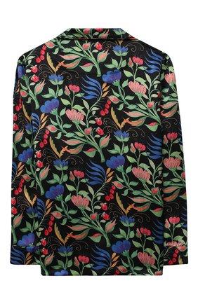 Детская шелковая пижама LITTLE YOLKE черного цвета, арт. SS21-12S-WF-B/5-12Y   Фото 3