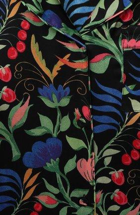 Детская шелковая пижама LITTLE YOLKE черного цвета, арт. SS21-12S-WF-B/5-12Y   Фото 6