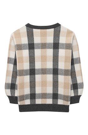 Детский пуловер из шерсти и кашемира BRUNELLO CUCINELLI бежевого цвета, арт. B16M15310C | Фото 2
