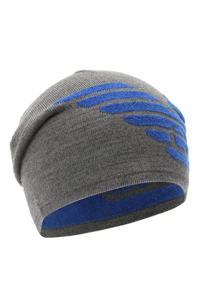 Детский комплект из шапки и шарфа EMPORIO ARMANI синего цвета, арт. 407510/0A758 | Фото 2