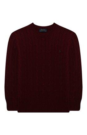 Детский пуловер из шерсти и кашемира POLO RALPH LAUREN бордового цвета, арт. 323702589 | Фото 1