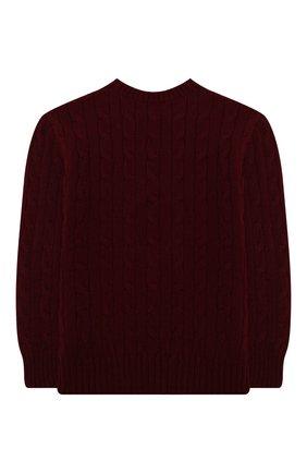 Детский пуловер из шерсти и кашемира POLO RALPH LAUREN бордового цвета, арт. 323702589 | Фото 2