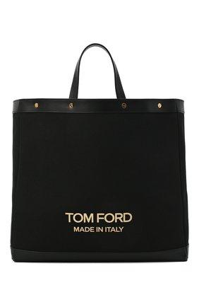 Женский сумка-шопер t screw TOM FORD черного цвета, арт. L1406T-ICN001 | Фото 1