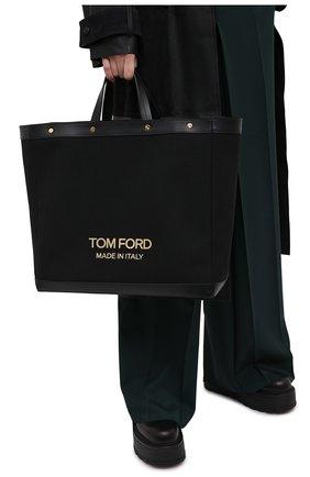Женский сумка-шопер t screw TOM FORD черного цвета, арт. L1406T-ICN001 | Фото 2