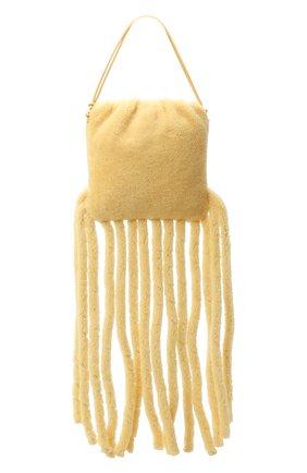 Женский сумка-шопер the fringe BOTTEGA VENETA светло-бежевого цвета, арт. 630363/V03F1 | Фото 1
