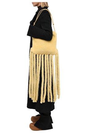 Женский сумка-шопер the fringe BOTTEGA VENETA светло-бежевого цвета, арт. 630363/V03F1 | Фото 2